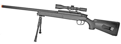 Spring Bolt Action Sniper Rifle FPS-400 Bipod, Scope Airsoft Gun