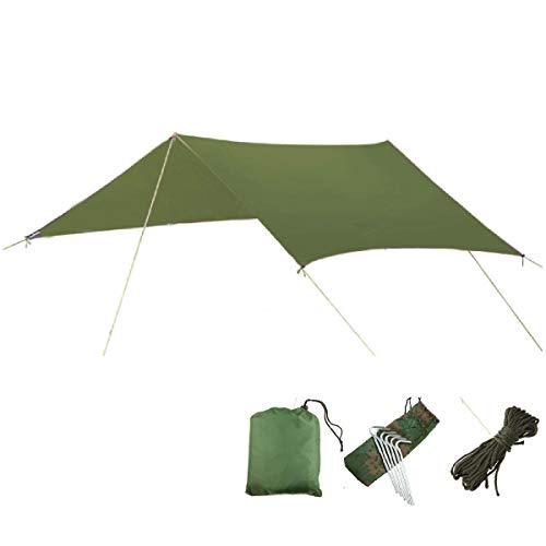 TRIWONDER Lona de Tiendas de Campaña Impermeable Portátil Toldo Camping Refugio con Accesorios para Playa Picnic al Aire Libre (Verde)