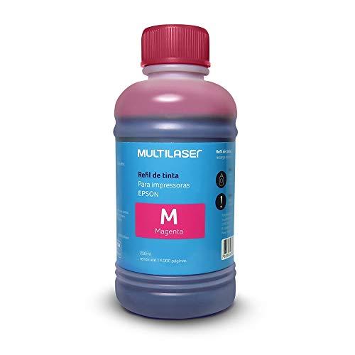 Refil De Tinta Para Impressoras Epson 250Ml Magenta Multilaser - RF015