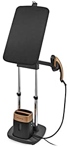 Rowenta IXEO QR1020D1 - Cepillo de Vapor 1600 W, Depósito 1 L, Elimina Arrugas, Olores y Desinfecta, Lista en 45 seg, Tabla Vertical Cabezal XL 49x49x45cm