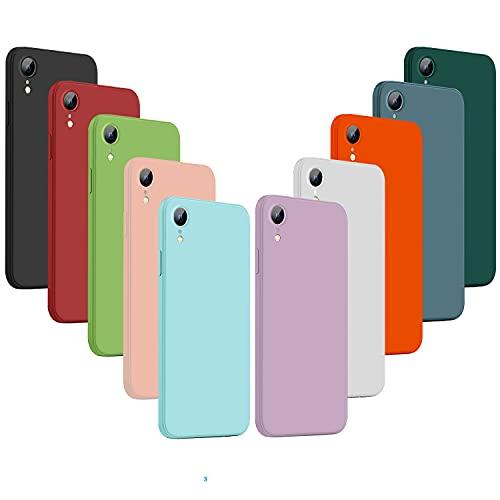 NUDGE 10X Funda para iPhone XR, Carcasa Silicona de Color Sólido Anticaída, Cubierta Flexible Ultrafina a Prueba de Arañazos y Golpes