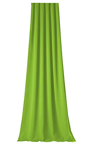Gardine Verdunkelungsvorhang für *CARAVAN * Wohnmobil * Wohnwagen * mit Thermoeffekt * in 3 Längen * MASSANFERTIGUNG * auf Kräuselband in vielen Farben * MADE IN GERMANY (145x100cm, Apfelgrün)