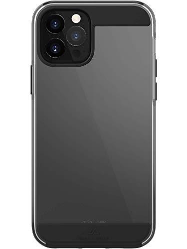 Black Rock - Hülle Air Robust Hülle passend für Apple iPhone 12 Pro Max I Handyhülle, Transparent, Durchsichtig, Dünn (Schwarz)