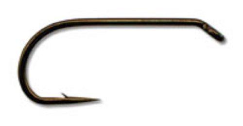 Trockenfliegenhaken, 94833, 2XF, geschmiedet, Down-Eye, Bronze