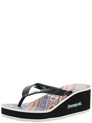 Desigual Damen Shoes (LOLA_Mexican) Zehentrenner, Schwarz (Negro 2000), 41 EU
