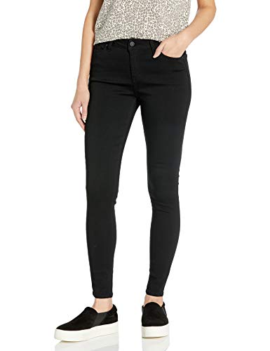 Celebrity Pink Jeans Women's Infinite Stretch Short Inseam Skinny Jeans, Black Rinse, 13