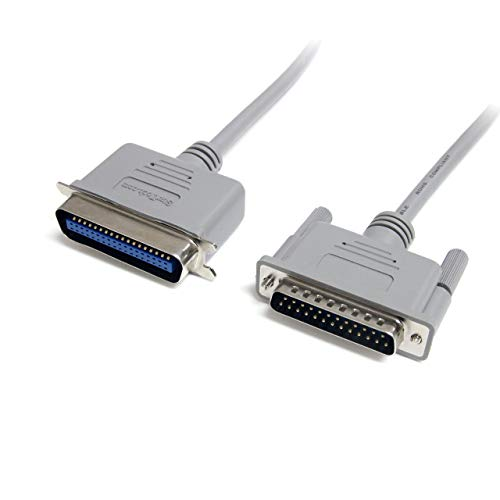 StarTech.com 6 ft DB25 to Centronics 36 Parallel Printer Cable - M/M - Printer cable - DB-25 (M) to 36 pin Centronics (M) - 6 ft - PB6_,Gray