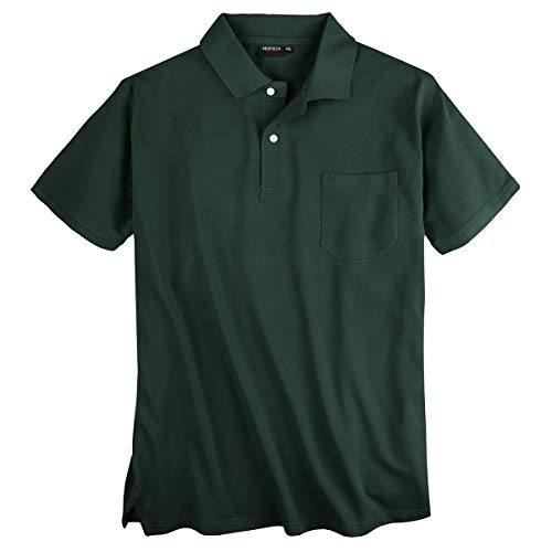 Redfield Piqué Poloshirt XXL dunkelgrün Brusttasche, XL Größe:5XL