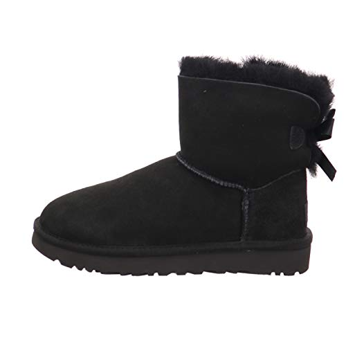 UGG Female Mini Bailey Bow II Classic Boot, Black, 5 (UK)