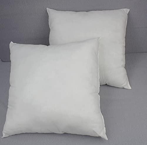 Acomoda Textil - Relleno de Cojín, Juego 2/4 Unidades Relleno Fibra Hueca Siliconada, Muy Mullido, Suave, Indeformable y Antialérgico. (2 Ud., 40x40 cm)