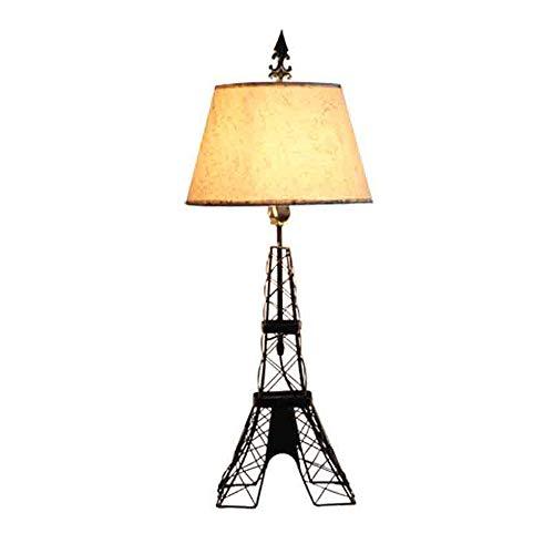 Lampe de Table Décoration, Tour eiffel La modélisationCadre en métal Lampes de lecture, Salon Design Lampe en Architecte Moderne Luminaire Industrielle à Poser Noir