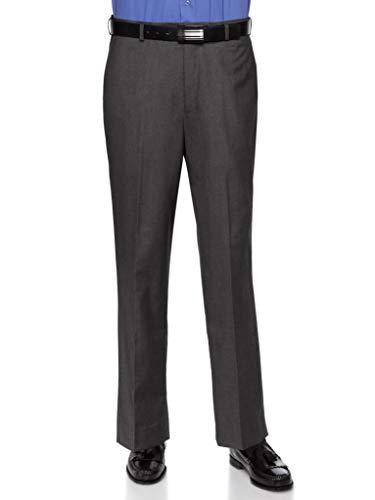 RGM Herrenhose, schmale Passform, flache Vorderseite, knitterfrei, bügelfrei - Grau - 34W / 29L