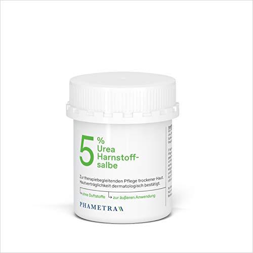 Phametra Urea Harnstoffsalbe 5% | Feuchtigkeitspflege für trockene und empfindliche Haut | Körperpflege ohne Duftstoffe | 100g