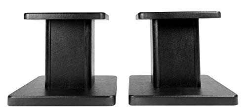 2 Rockville RHT8B Computer/Bookshelf Desktop Speaker/Studio Monitor Stands-Black