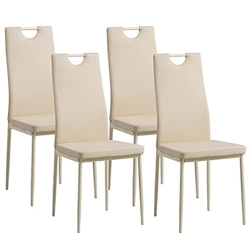 Albatros 2912 Salerno Set de 4 sillas de Comedor, Beige