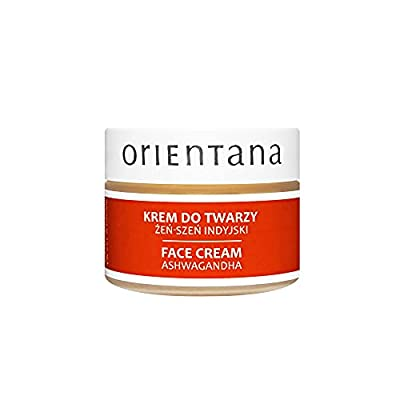 Orientana 99.7% NATURAL FACE CREAM with ASHWAGANDHA (INDIAN GINSENG) and Shea Butter – Day and Night Vegan Anti Ageing & Wrinkle Moisturiser for Women - Rejuvenating and Nourishing Mature Skin, 40g by Orientana