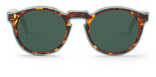 Mr. Boho | Jordaan | Blue / Cheetah Tortoise - Gafas de sol para hombre y mujer
