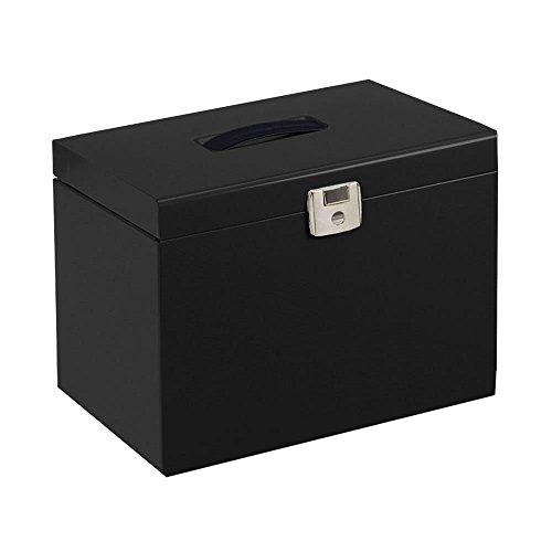 Black Metal File Box + 5 Files