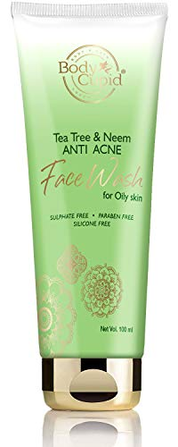 Body Cupid Tea Tree and Neem Anti Acne Face Wash with Tea Tree Oil & Neem Extract – 100mL