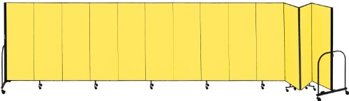 Best Bargain Screenflex Commercial Portable Room Divider (CFSL6013-DY) 6 Feet High by 24 Feet 1 Inch...