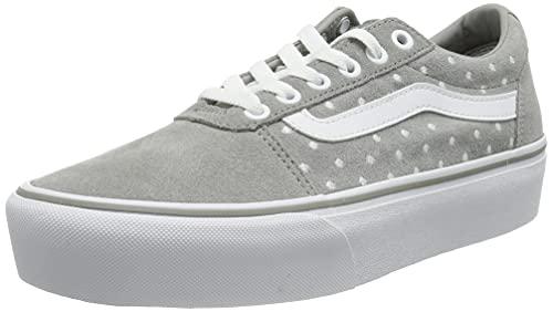 Vans Ward Platform, Zapatillas Mujer, Suede Dots Drizzle White, 36.5 EU