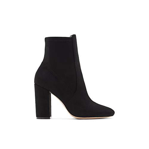 ALDO Women's Aurella Ankle Boot, Black Micro, 8