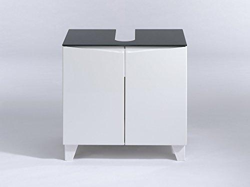 Homexperts Waschbeckenunterschrank, Holz, Weiß, 2 Türen