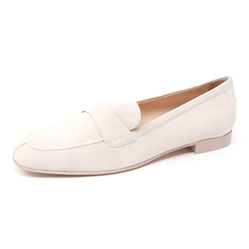 Tod's B4371 Mocassino Donna Scarpa Panna Shoe Loafer Woman [40]