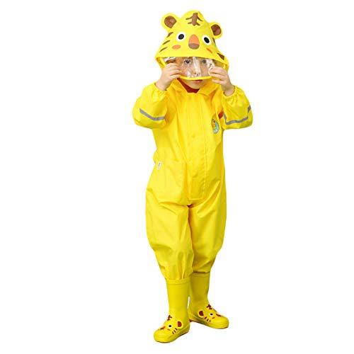 Niños Impermeable Capa de Lluvia - Niños Niñas Poncho Traje de Lluvia Mono Animal Raincoat para Deportes,Cámping,Viajes,Al Aire Libre