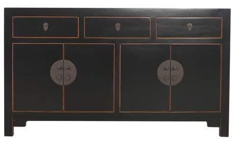 Fine Asianliving Chinees Dressoir L140xW35xH80cm Zwart