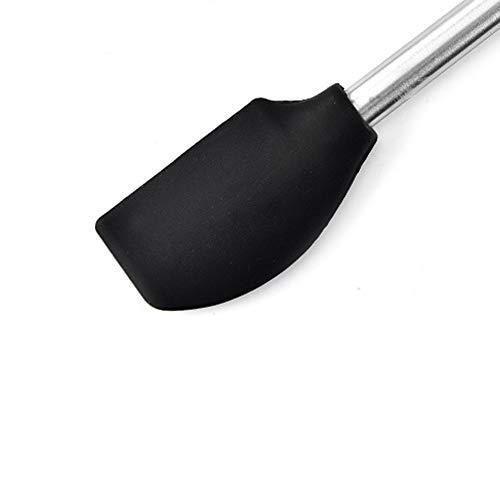 Maphyton キッチンツール 六点セット シリコン料理調理器具 台所用品 ステンレスハンドル 日本食品安全認証済み FDA認証済み (6点セット, ブラック)