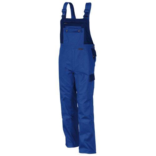 Qualitex Image-Latzhose Mischgewebe 65% Baumwolle 35% Polyester Kornblau-dunkelblau 3105/4-0 in Größe 66