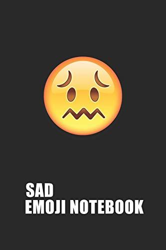 Sad Emoji Emoticons Notebook Emoji Notebook, Blank Composition Book, Emoji Notebooks for Girls/Boys, Emoji School Supplies Notebook for School / ... 120 Pages, 6x9, Soft Cover, Matte Finish