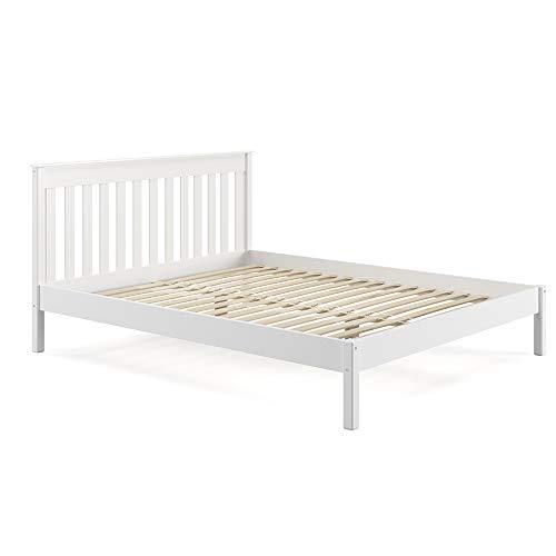 VitaliSpa Tagesbett Adele Massivholzbett Holzbett Futonbett weiß (160 x 200 cm ohne Matratze)