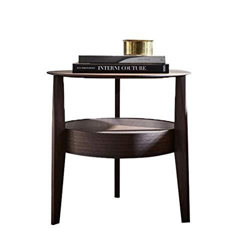 Jcnfa-Tische Italienischer Nussbaum Nachttisch, Massivholzmöbel im Schlafzimmer, (Color : Black Walnut, Size : 19.68 * 19.68 * 19.68in)