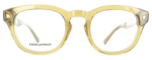 Dsquared DQ5114 045 -48 -21 -145 D Squared Brillengestelle DQ5114 045 -48 -21 -145 Rund Brillengestelle 48, Gelb