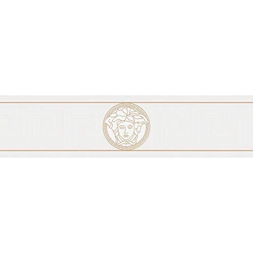 Cenefa estilo barroco barroco gris 935223 93522-3 Versace Versace 1 | gris | Rollo (5,00 x 0,13 m) = 0,65 m²