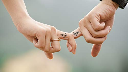 WOZUIBAN Puzzle 1000 Teile Puzzle Für Erwachsene DIY Festival Geschenk Liebe Hände Romantik Tattoos Paar Anker Moderne Wohnkultur Wandkunst Intelligenz Spiel 75x50cm