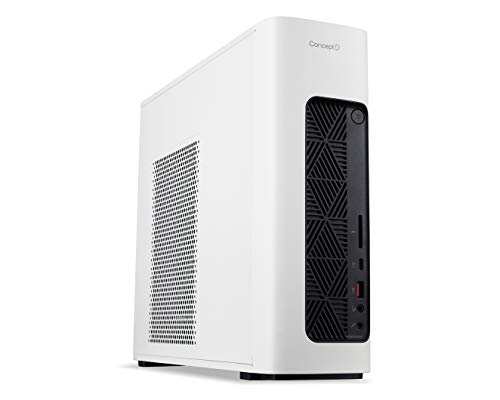 Acer ConceptD 100 Creator PC - (Intel Core i5-9400F, 16GB RAM, 512GB SSD and 1TB HDD, Nvidia GeForce GT 1030, Windows 10 Pro, White)