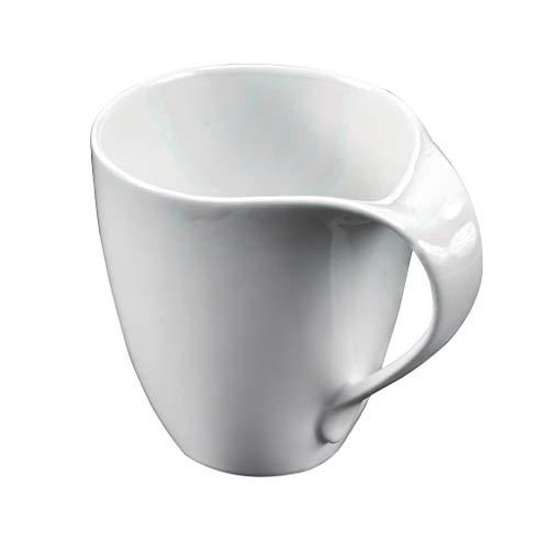 Deagourmet NINFEA Klassische Tasse Mug, 600 mm, feines Porzellan, Weiß