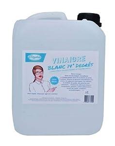 VOZYDEO - Vinagre blanco de 14 grados - 1 l y 5 l - Limpia, descalcifica, desinfecta, 100% natural, económico y ecológico, 5 litros