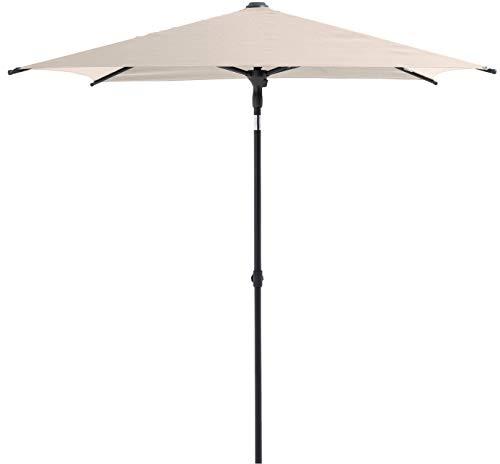 SORARA Balkon Sonnenschirm | Beige | 160 x 200 cm | Rechteckig | Kippbar | Gartenschirm für Terrasse