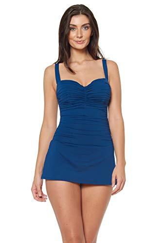 Bleu Rod Beattie Dress for Success Shirred Bandeau Mio with Underwire Navy 14D