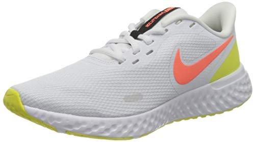 Nike Wmns Revolution 5, Zapatillas para Correr Mujer, White BRT Mango LT Vltge YLW II Black, 39 EU