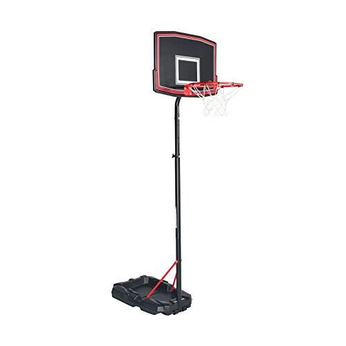 BUMBER - Cesta de baloncesto sobre pie móvil Phoenix altura ajustable de 1,65 a 2m20