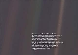 Carl Sagan Pale Blue Dot Poster Carl Sagan Print Astronomy Poster Science Poster Science Wall Art Space Poster Wall Art Space Art Space Deco (8.3 x 11.7 (A4))