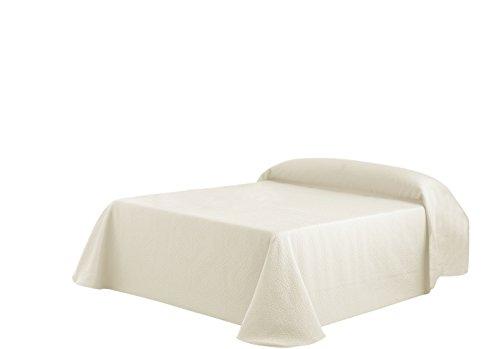 Eysa Sofaüberwurf, 270 cm, 75 Prozent Polyester, 25 Prozent Baumwolle, Ecru Kies Tagesdecke 00