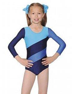 Roch Valley - Maillot de Gimnasia para niña (tamaño Grande), Color Azul Marino