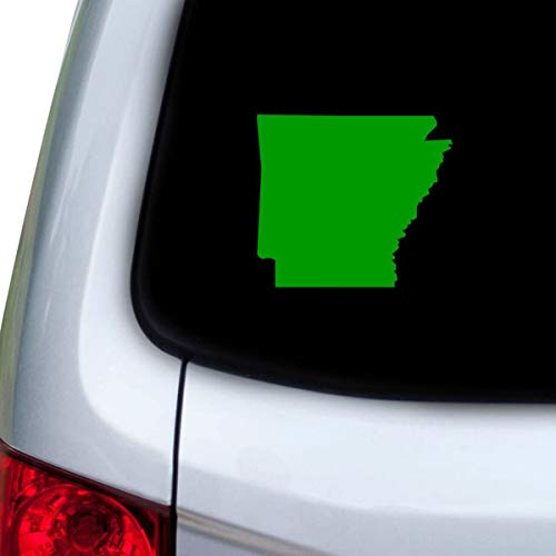 DKISEE Car and Auto Decal Series Arkansas AR Sticker for Windows, Doors, Hoods Laptop Vinyl Decal Green 6 inch