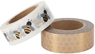 Bumblebee and Honeycomb Washi Tape Set - 2 Spools